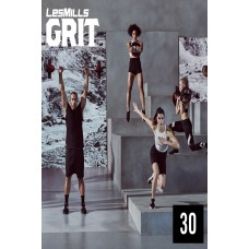 2019 Q3 LesMills Routines GRIT CARDIO 30 DVD+CD+Notes
