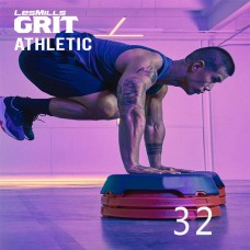 Spot sale 2020 Q1 LesMills Routines GRIT ATHLETIC 32 DVD+CD+Notes