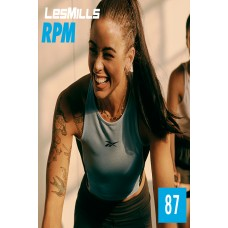 [Hot Sale]2020 Q2 Les Mills RPM 87 New Release 87 DVD, CD & Notes
