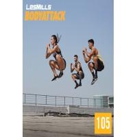 [Hot Sale]2019 Q2 LesMills Routines BODY ATTACK 105 DVD + CD + waveform grap