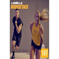 [Hot Sale]2019 Q4 LesMills Routines BODY ATTACK 107 DVD + CD + Notes