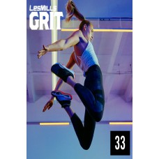 [Hot Sale]2020 Q2 LesMills Routines GRIT CARDIO 33 DVD+CD+Notes